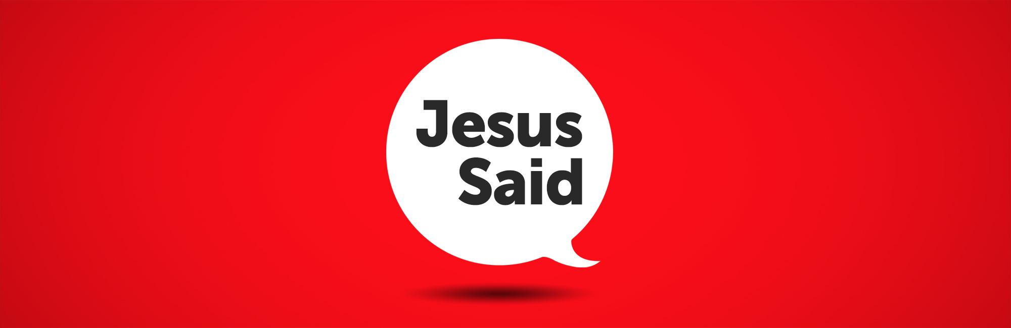 Jesus Said - Web - Message Header
