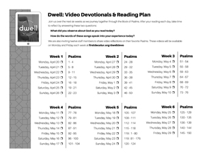 Dwell - Psalms Reading Plan (BW thumbnail)