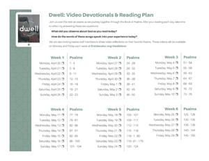 Dwell - Psalms Reading Plan (color thumbnail)