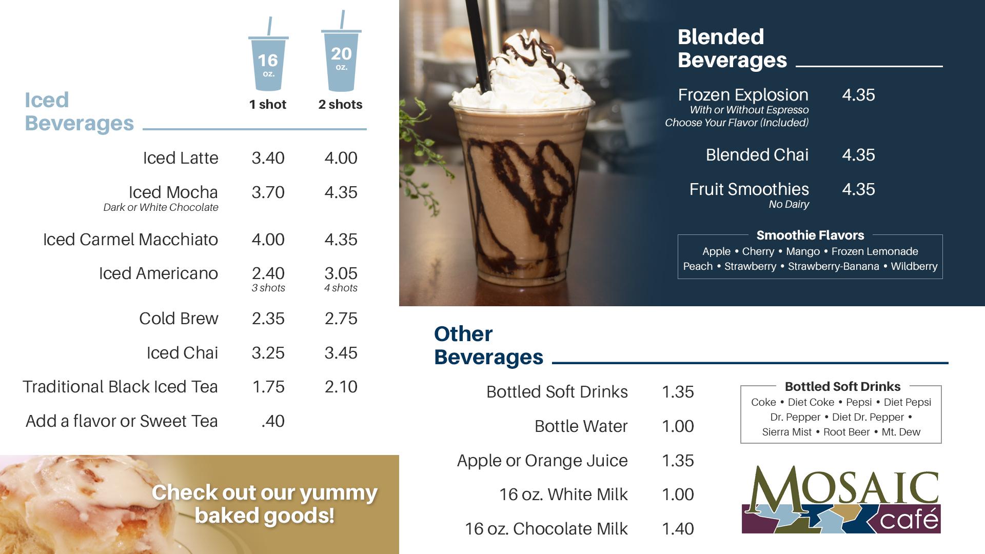Mosaic Cafe - Cold Menu (baked goods frozen expl)